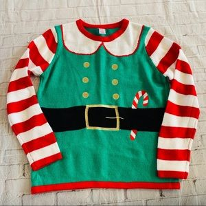 Holiday Time Ugly Christmas Sweater Women's Size 8